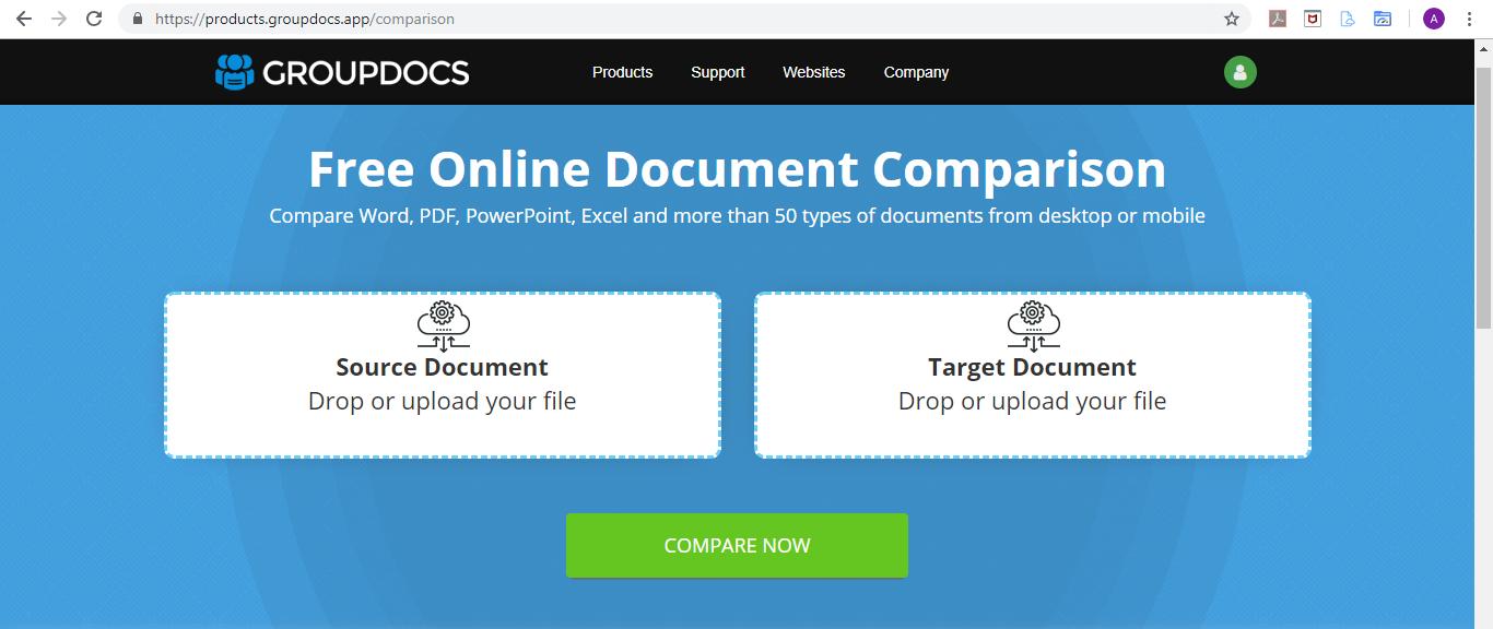GroupDocs.Comparison Editor App