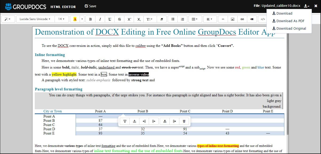 GroupDocs.Editor Document Editor App